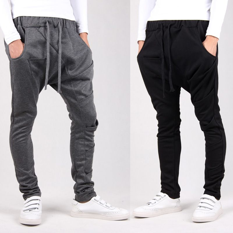 2014 drop crotch New style fashion mens pant sport outdoors cargo Casual  harem pants ,thicken