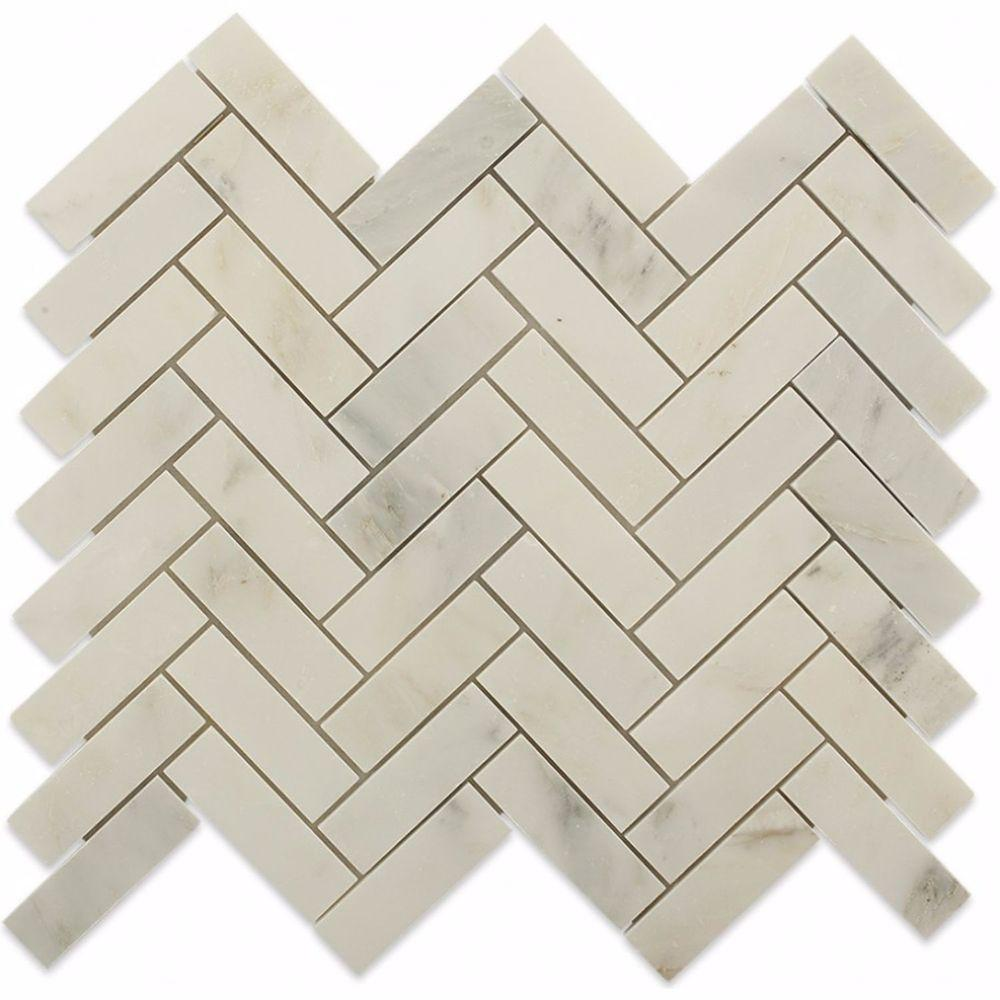 Ivy Hill Tile Oriental Sculpture Herringbone 12 In X 12 In X 8 Mm Marble Mosaic Floor And Wall Tile Ext3rd100228 The Home Depot Mosaic Flooring Marble Mosaic Floor Splashback Tiles