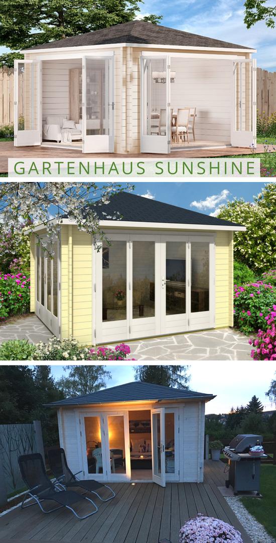 Gartenhaus Sunshine Iso Mit Grosser Falttur Gartenhaus Haus Pool Haus
