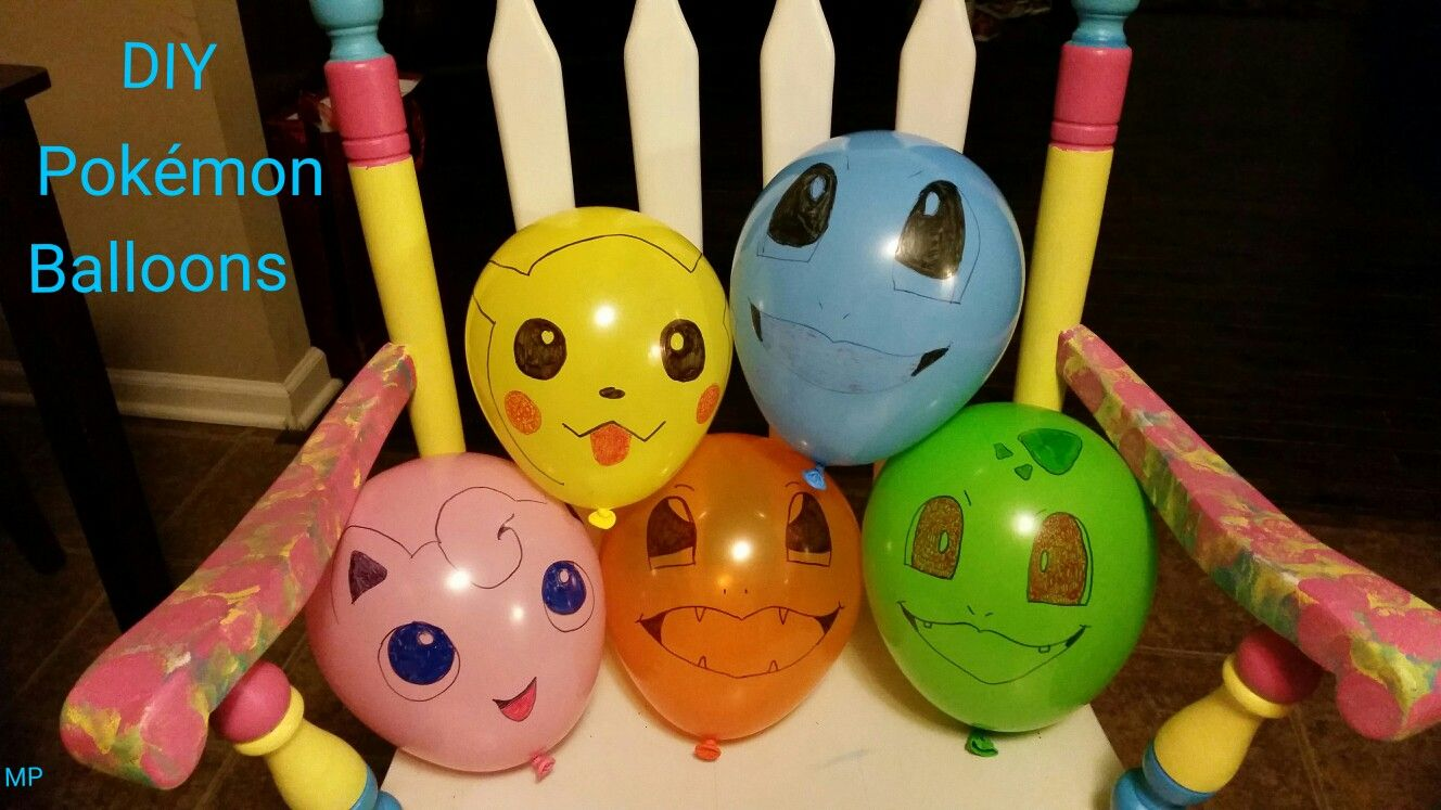 7160a7404a915b DIY Pokémon Balloons Pokemon Birthday, Pokemon Party, Ballon Diy, Pokemon  Balloons, Pokemon