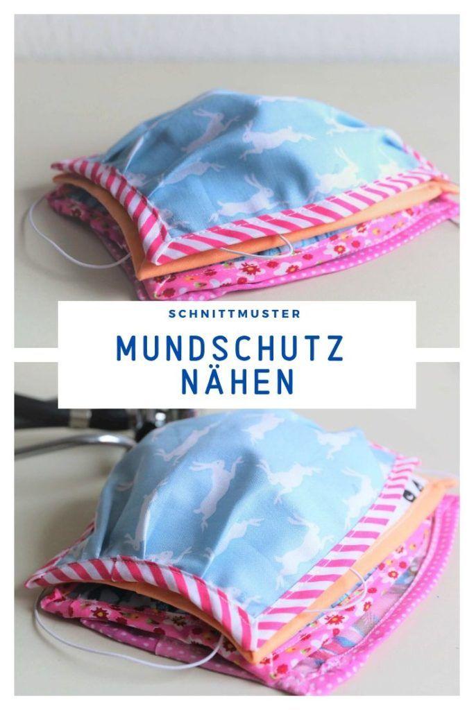 Mundschutz nähen: Gratis-Anleitung mit Schnittmuster – Bastelidee