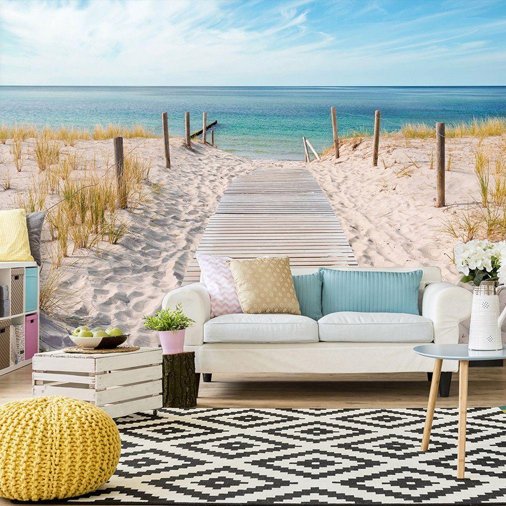Home interior tapeten design vlies fototapete strand meer tapete tapeten wohnzimmer wandbild xxl