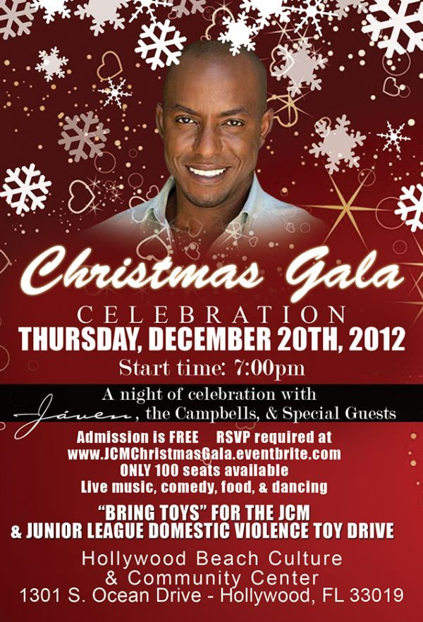 You are invited to the JAVEN/JCM Christmas Gala! Adults Only - Dec 20, 2012.