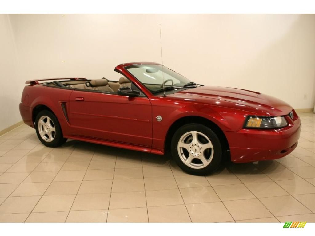 2004 Mustang Convertible 40th Anniversary Edition Mustang Convertible Red Mustang Mustang