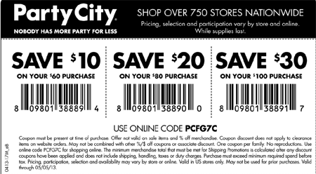 Ahorra Hasta 30 En Party City Cupones
