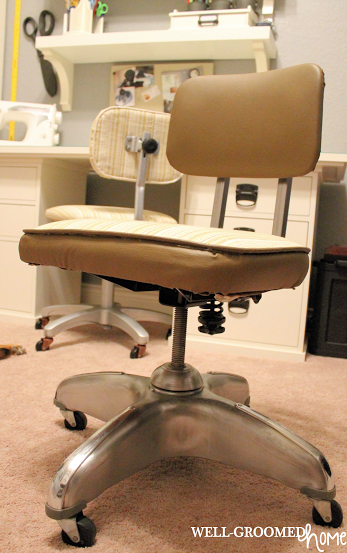 industrial style office chair. Industrial Vintage Office Make-Over; Restored Style Desk Chair