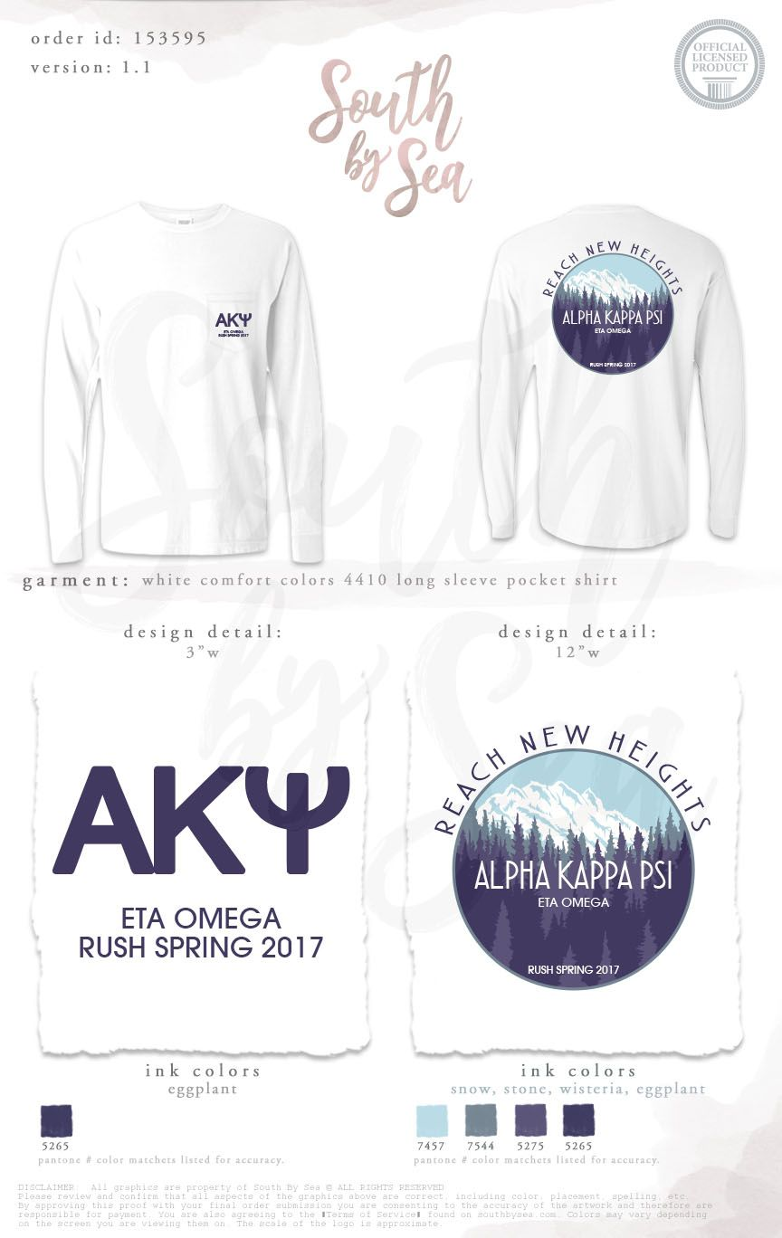 High Quality Alpha Kappa Psi | AKPsi | Reach New Heights | Mountain Design | Outdoor  Inspired |