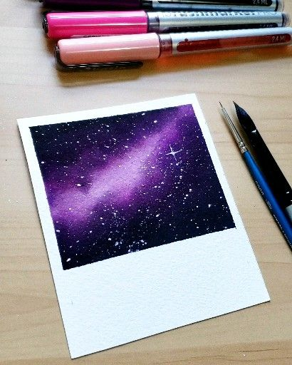Purple galaxy  #watercolorart