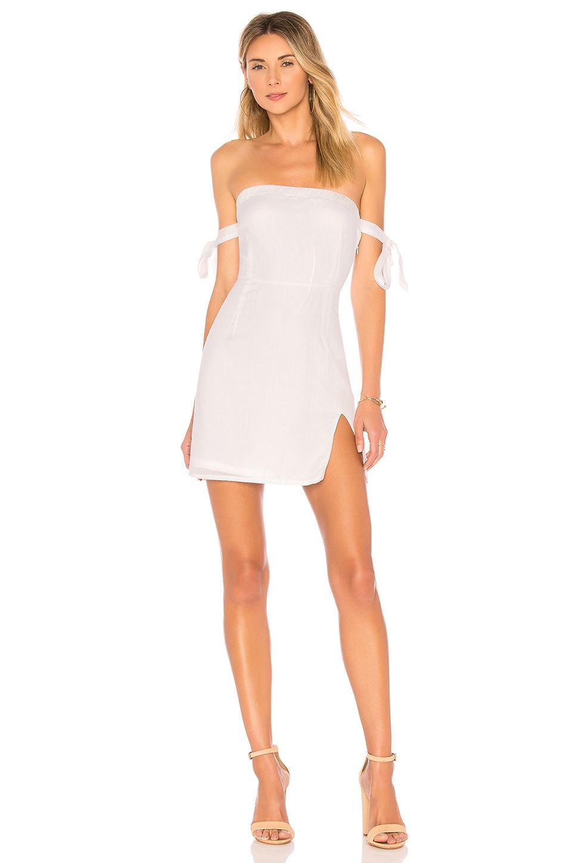 Superdown Athena Off Shoulder Dress In White Revolve Fashion Clothes Women Off Shoulder Dress Long Sleeve Mini Dress [ 1450 x 960 Pixel ]