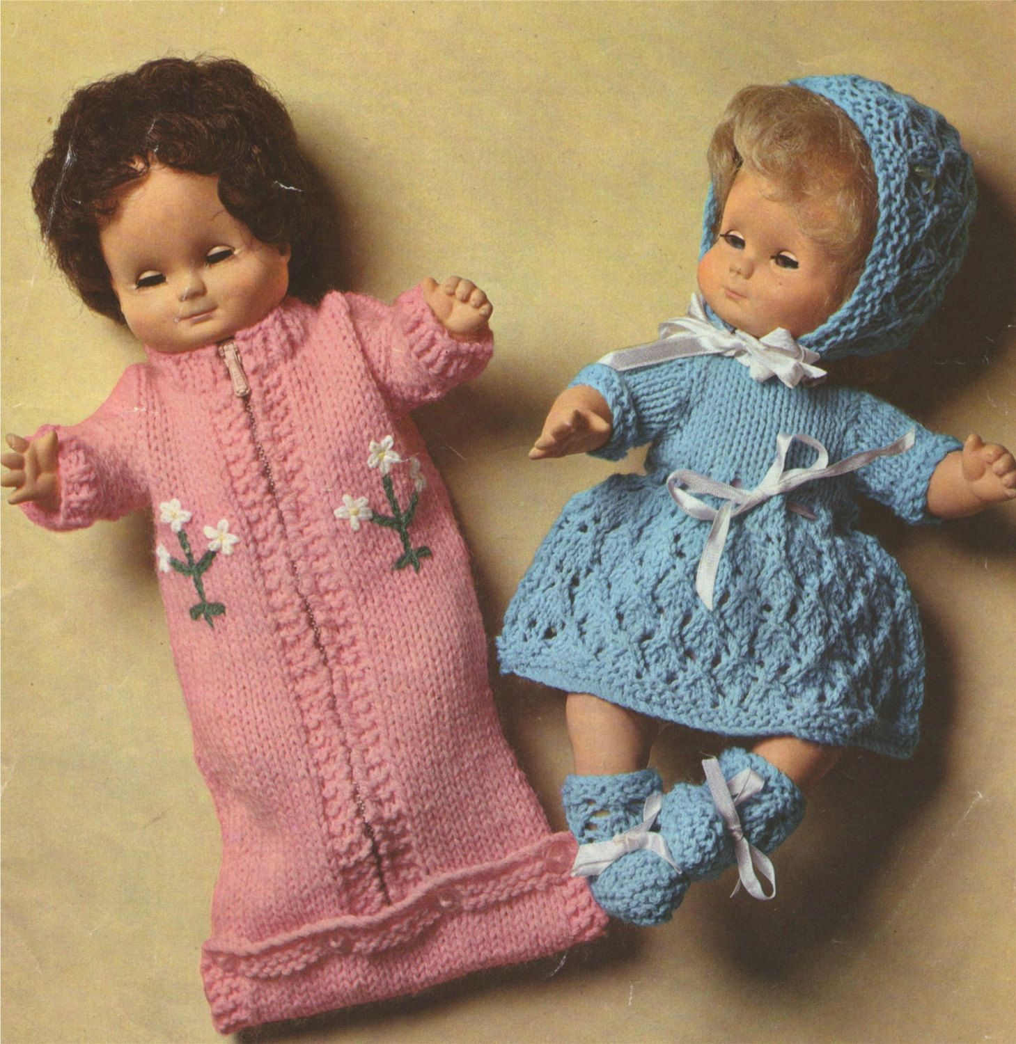 Dolls Clothes PDF Knitting Pattern : 12 inch Baby Dolly . Baby Doll ...