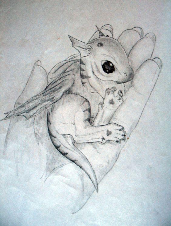 baby dragon drawing - Google Search: | Tatuajes de dragón ...