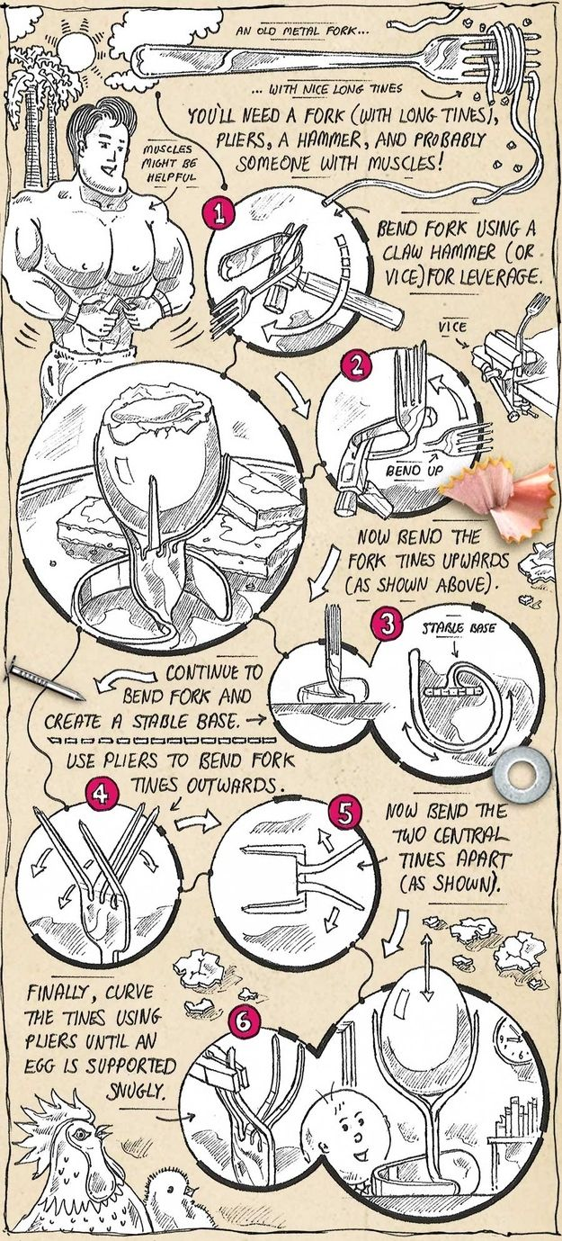 Egg holder   30 Quirky Ways To Use Your Utensils