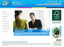 Layout de Site Criado para a JS Gráfica #criative #sites #criacaodesites #grafica #agencia www.visiondesign.com.br