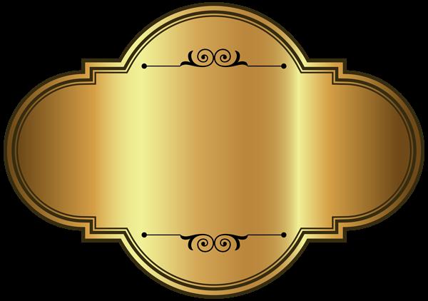 Golden Luxury Label Template Png Clipart Picture Kartu Nama Bingkai Kartu Pernikahan