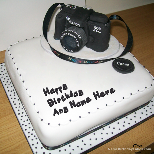 Write Name On Birthday Cake For Photographer Picture Hbd Cake