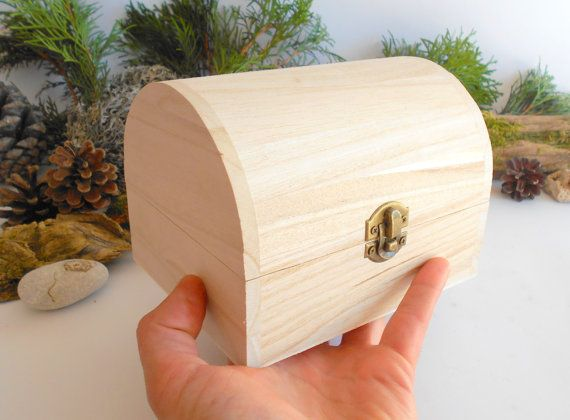 Wooden Chest Box Small Chest Box Unfinished Wooden Box With