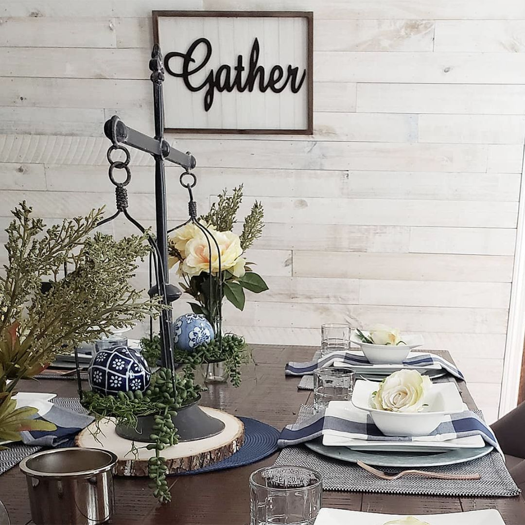 Our White Wash Boards Create A Clean, Cottage-y Backdrop
