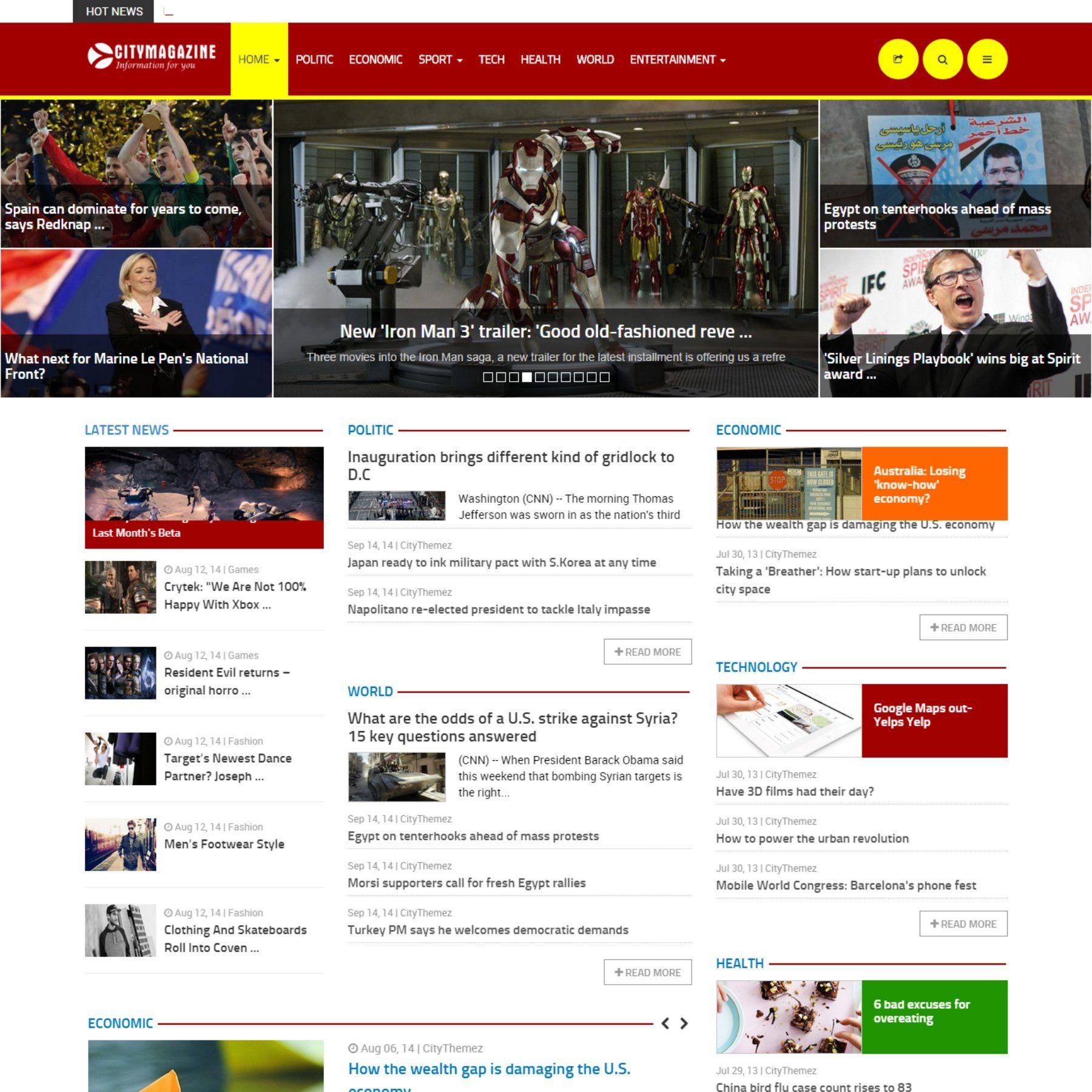 CityMagazine Joomla Magazine Theme JoomlaTheme