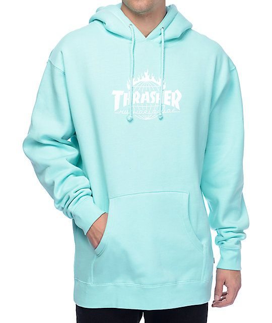 70b0c5d46e9 HUF x Thrasher TDS Mint Pullover Hoodie in 2019