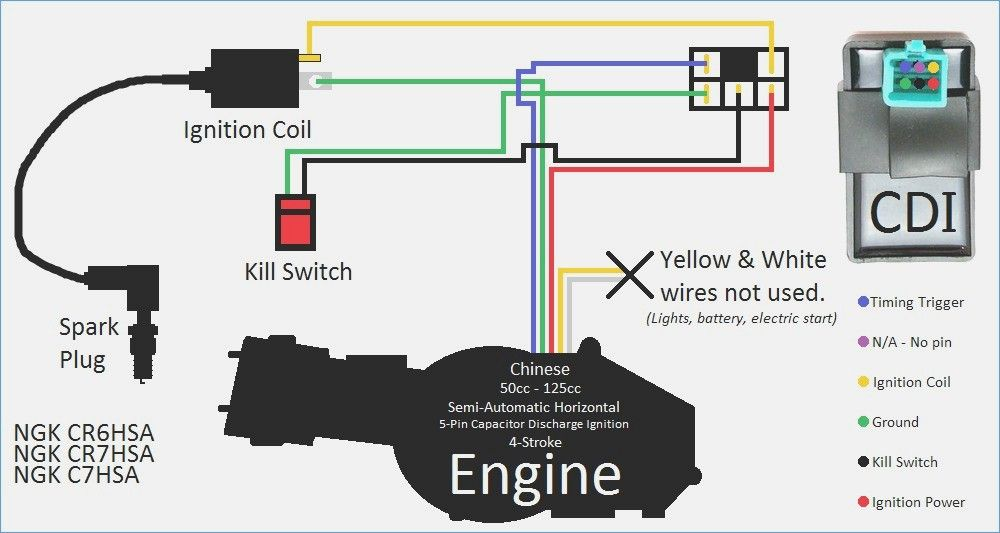 Cdi Wiring Diagram Kill Switch Motorcycle Wiring Electrical Wiring Diagram