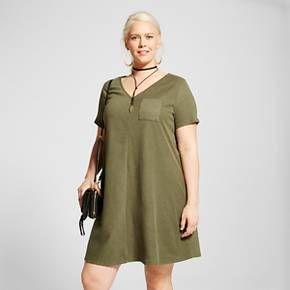 808fed6bb43 Women s Plus Size Ribbed T-Shirt Dress - Ava   Viv™   Target