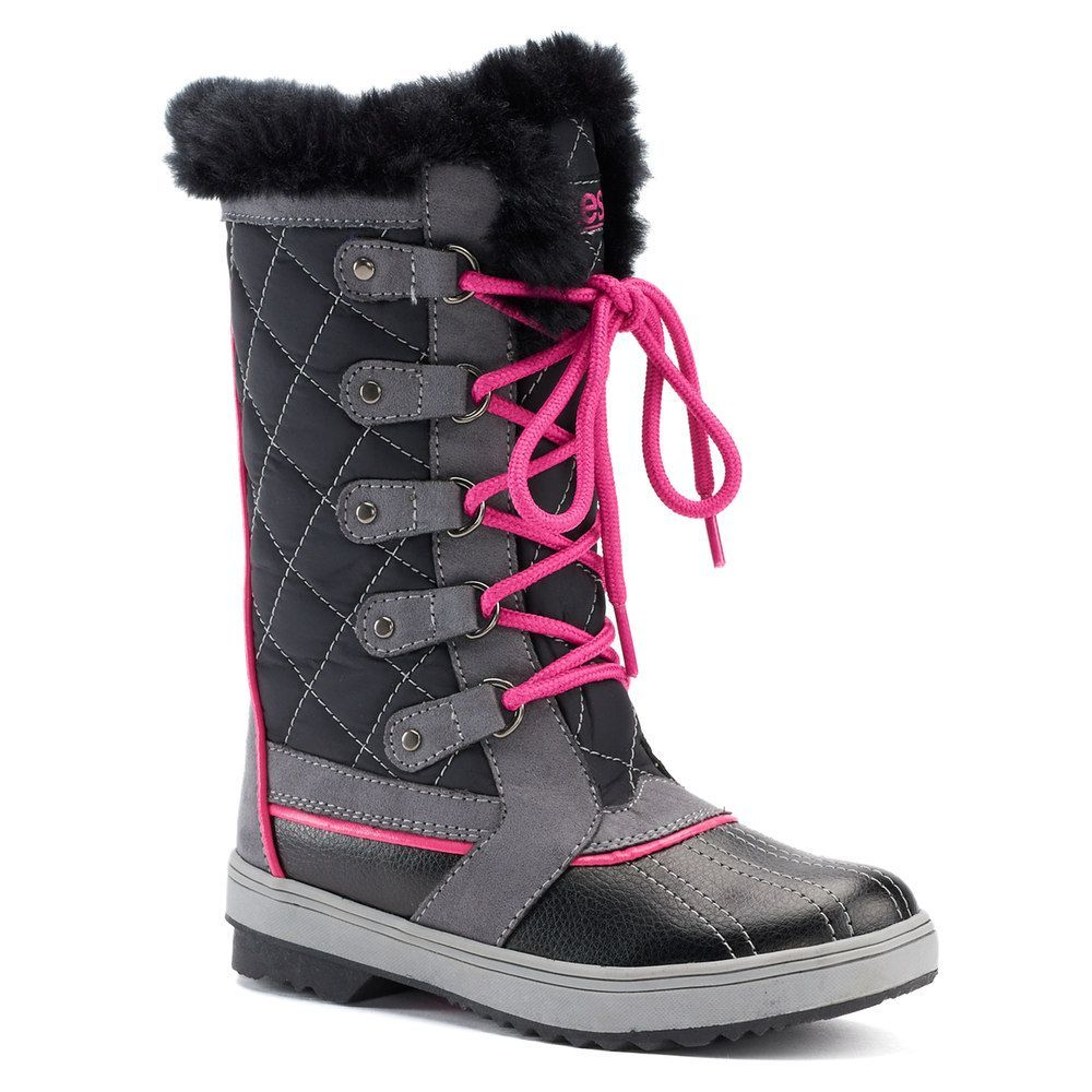 totes-girls-black-winter-boots
