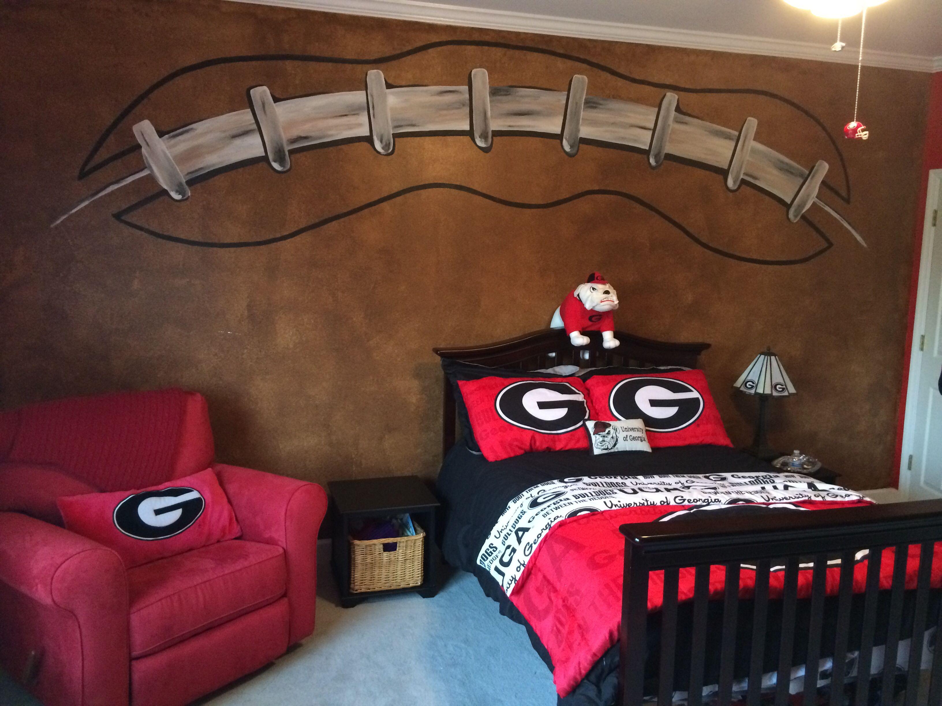 Football Wall Georgia Bulldogs Room