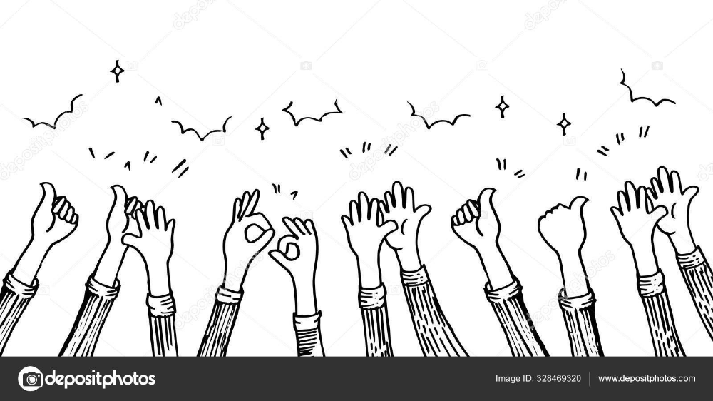 Download Doodle Hands Up Hands Clapping Applause Gestures Congratulation Business Vector Illustration Stock Illustration