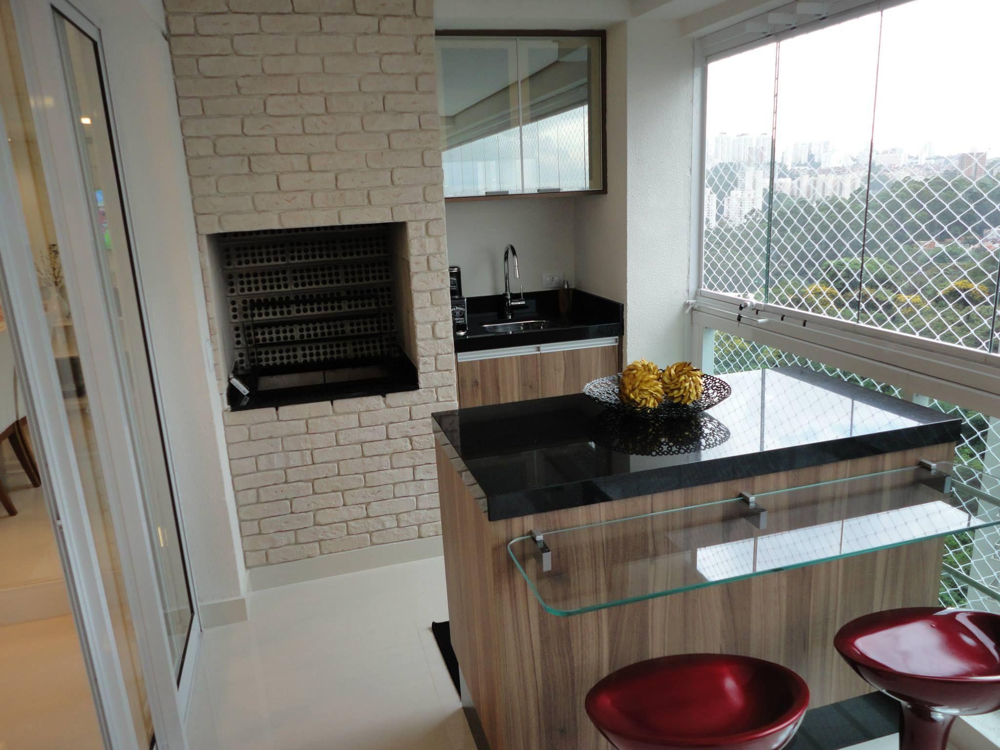 Sala Varanda E Cozinha - Marcenaria Design Interiores Casa Reformas Designdeinteriores