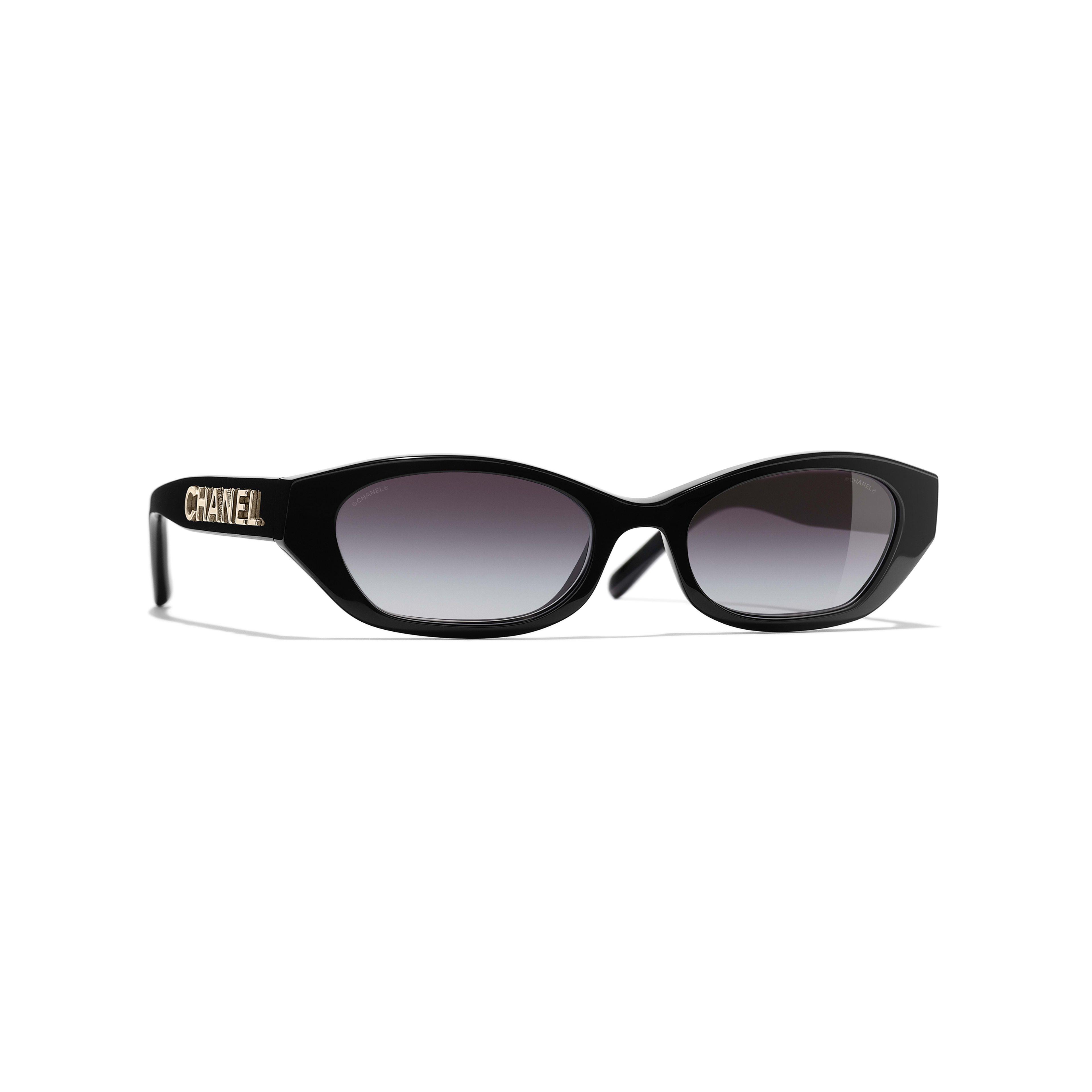 b6c58347e Rectangle Sunglasses - Black - Acetate - Default view - see full sized  version