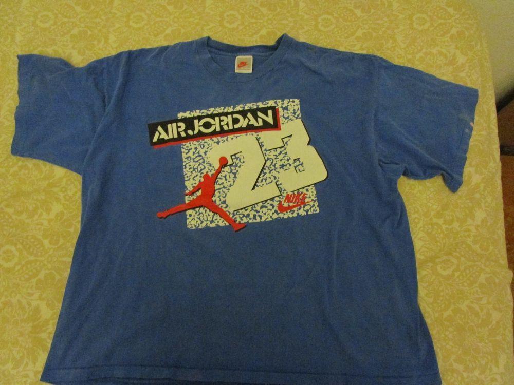 e0ae23f3270770  Vintage Nike  GrayTag  AirJordan 23  TShirt XL blue  NBA  80s  90s   Basketball  USA  Nike  GraphicTee
