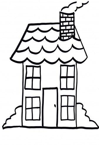 Afbeeldingsresultaat Voor Huis Kleurplaat Thema Gemeente Pinterest