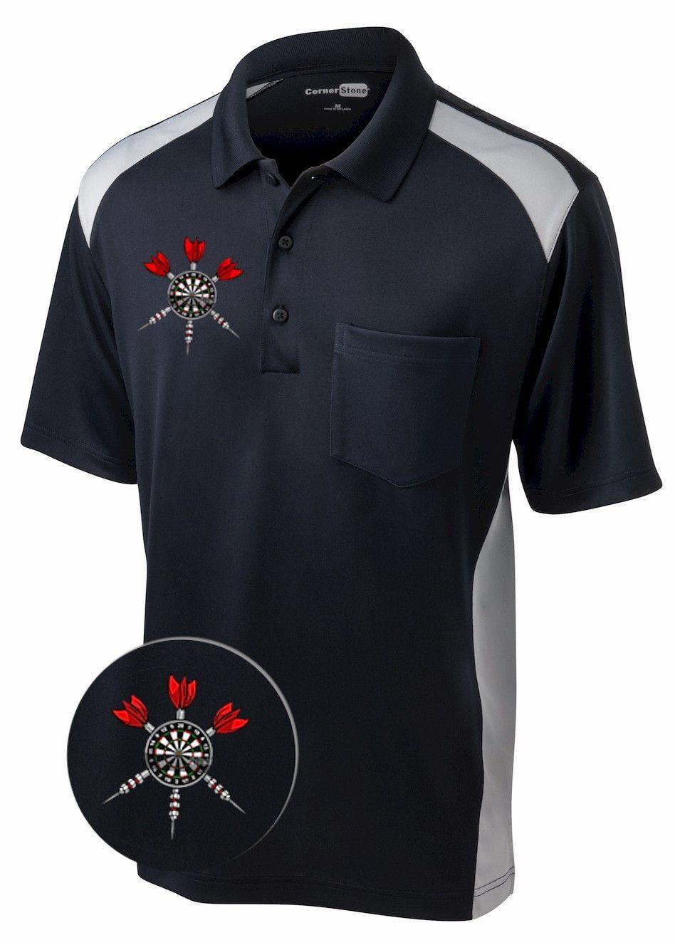 Bullseye Performance Pocket Darts Shirt Bowling Shirts