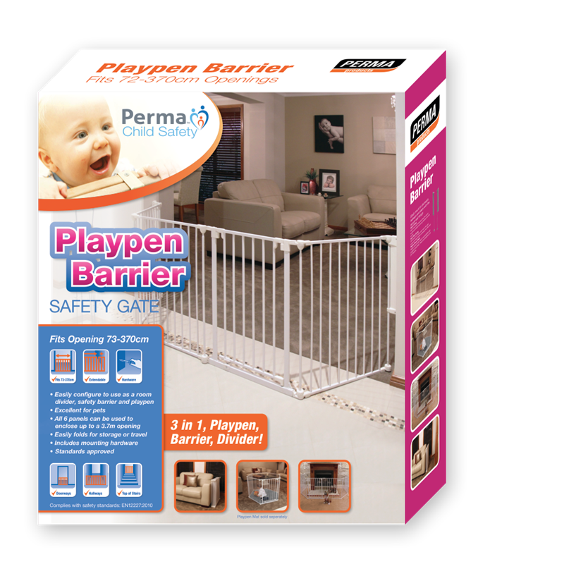 Perma Multi Purpose Barrier up to 3.7m Playpen, Child