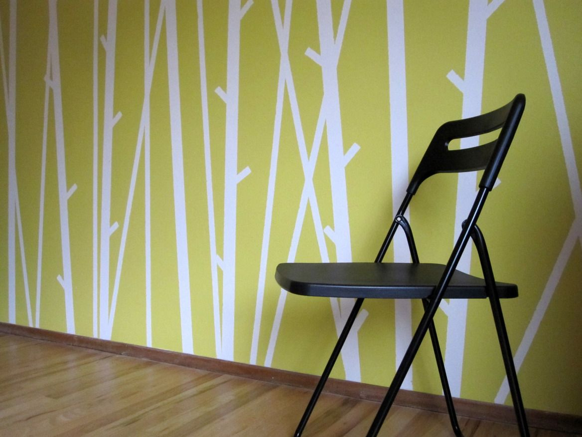 Transforming a Boring Wall   Wall ideas, Paint designs and Walls
