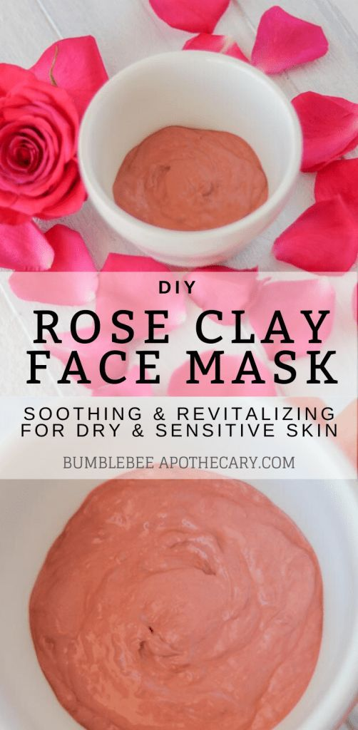 Photo of DIY Face Mask for Dry Skin | Rose Clay Face Mask Recipe | Bumblebee Apothecary