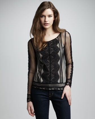 Lottie Lace Blouse by Alice by Temperley at Neiman Marcus. #NMFallTrends