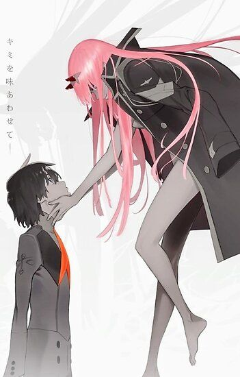 Darling In The Franxx: Hiro And Zero Two Poster by LTGS19