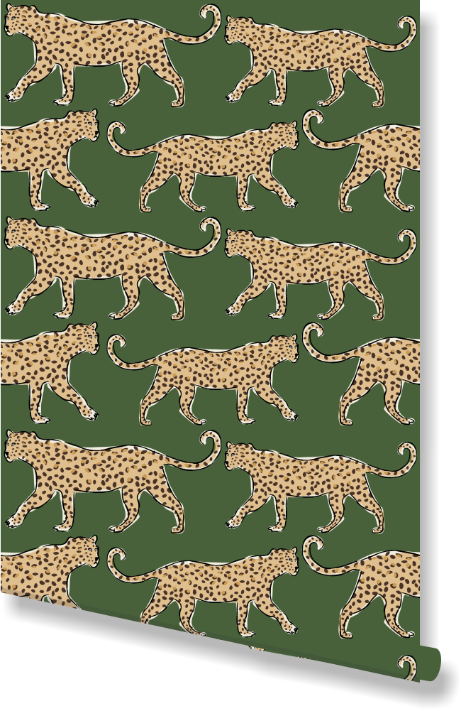 Leopard Green Wallpaper By Clairebella Green Wallpaper Leopard Wallpaper Blush Wallpaper