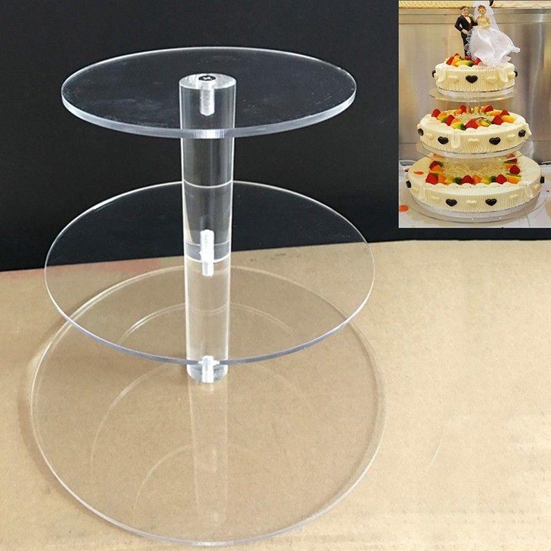 34 tiers cake stand acrylic round cupcake holder wedding