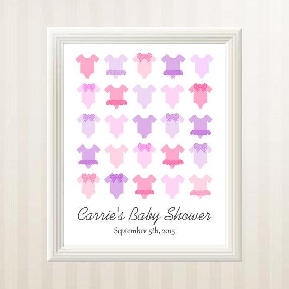 Baby Shower Guest Book Alternative Baby By BabyStarfishDesigns