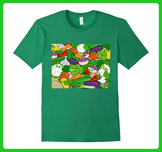 Mens Assorted Vegetables Healthy Food Shirt 3XL Kelly Green - Food and drink shirts (*Amazon Partner-Link)