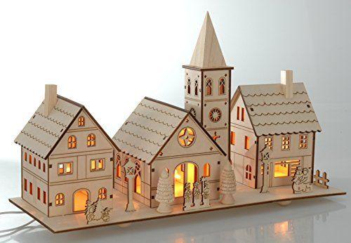 weihnachtsdorf deko weihnachten mit led licht beleuchtung. Black Bedroom Furniture Sets. Home Design Ideas