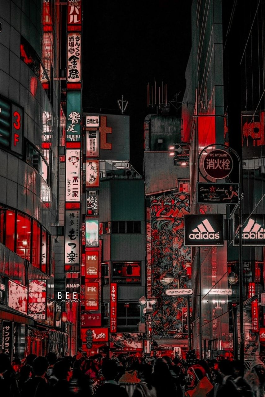 Image Discovered By 𝚋𝚎𝚎 Find Images And Videos About Kpop Aesthetic And Red On We Heart It The App T Aesthetic Japan City Wallpaper Aesthetic Wallpapers