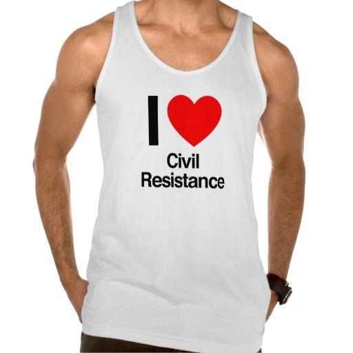 i love civil resistance american apparel fine jersey tank top Tank Tops