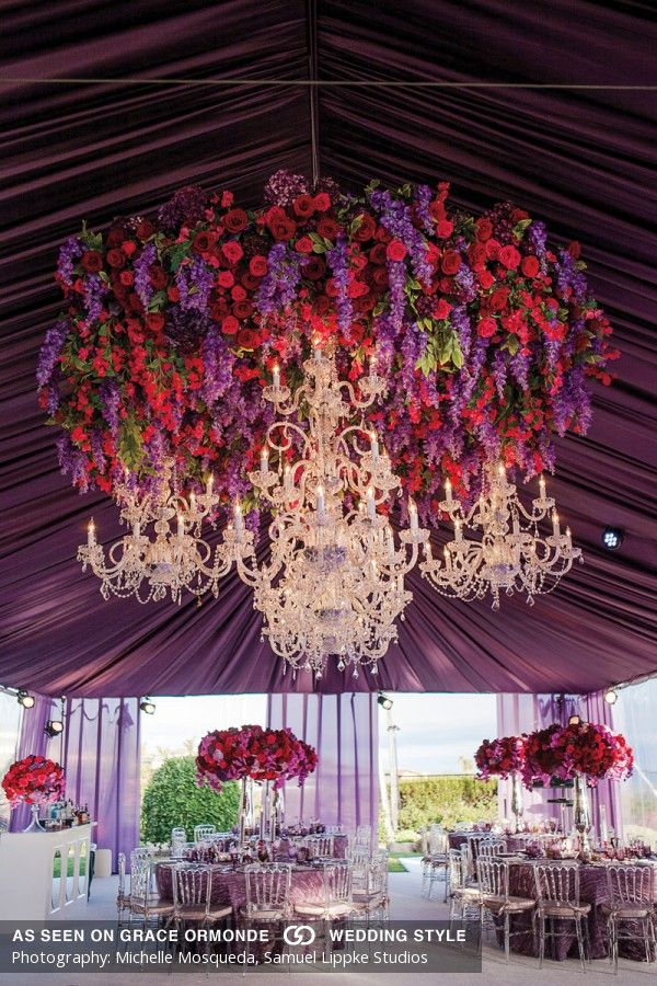 Floralumbrella  clusters of chandeliers reception decor ideas graceormonde weddingstyle also rh pinterest