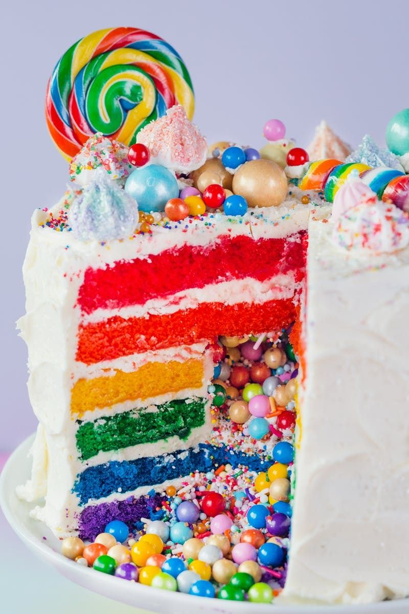 How To Make The Ultimate Rainbow Surprise Cake Recipe With
