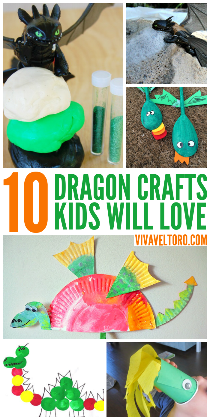 10 Awesome Dragon Crafts for Kids! #StreamTeam   Themed parties ...
