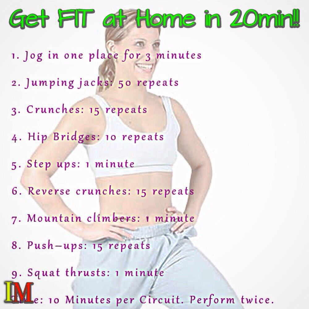 Burn Those #Calories!! Get #Fit At Home In 20 Minutes