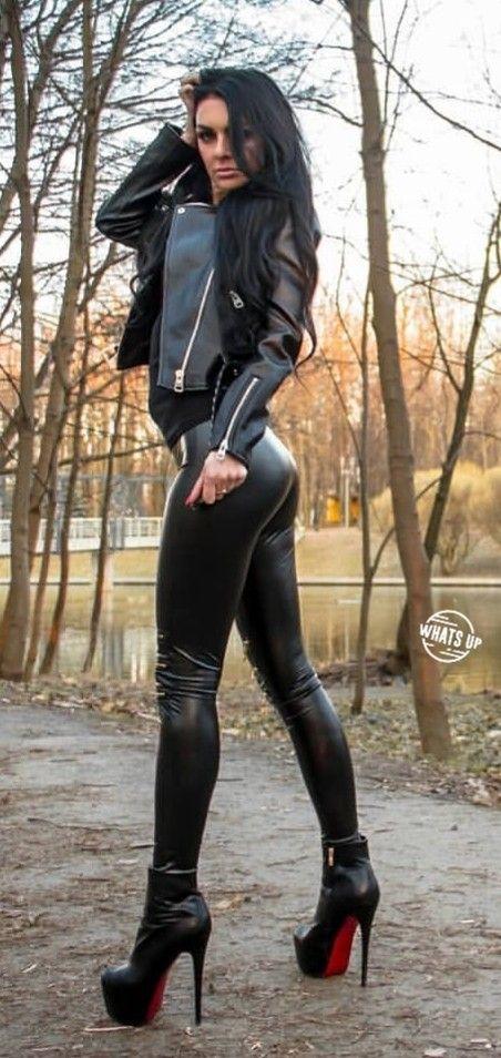 High Heels Und Latex Leggings Public, Porn 26